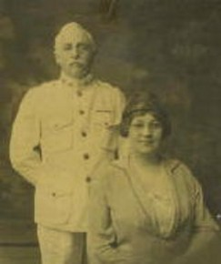 Dr William F James with his wife Sarah Robinson James