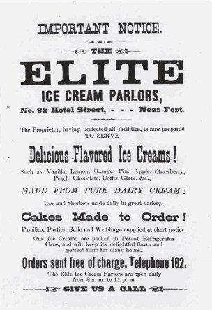 Elite Ice Cream Parlors-Daily Bulletin, July 10, 1885