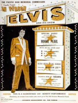 Elvis at Bloch Arena Poster March 25, 1961