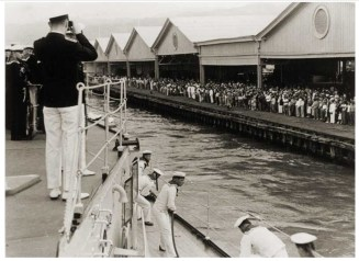 Emden landing at Honolulu Harbor