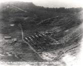 Encampment of the 3rd Balloon Company at Fort Ruger on back side of Diamond Head.