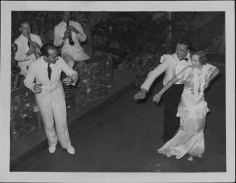 Finish-Oni Oni, with dancers Hazel Hale and Clayton Ramler at the Royal Hawaiian Hotel-P-4-3-020-Oct 10, 1934