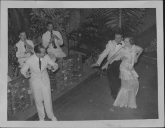 Finish-Oni Oni, with dancers Hazel Hale and Clayton Ramler at the Royal Hawaiian Hotel-P-4-3-021-Oct 10, 1934