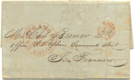 Folded Letter to C Brewer-October 18, 1850
