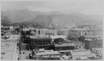 Fort St. from Aloha Tower, Honolulu-before Irwin Park-PP-38-9-003-1928