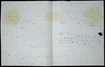 Frank Manini to Antoinette Swan-letter (portion)