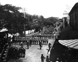 Funeral of King Kalakaua, February 15, 1891. The photo was taken at the corner of King and Fort streets
