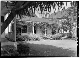 GENERAL VIEW, NORTH (FRONT) ELEVATION FROM NORTHEAST - Mission Printing Office-(LOC)