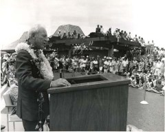 Governor John Burns dedicates Keahole, Kona, Airport