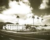 19610213 - The Hawaiian Sugar Planters Association campus in Makiki. BW Star-Bulletin photo.