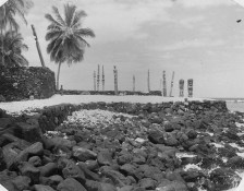 Hale o Keawe platform after the 1960s restoration-(NPS)