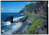 Hana Belt Road view looking southwest, 1 mile north of Kalepa bridge and south of Koukou'ai bridge -Hana Belt Road-(LOC)-218251cv