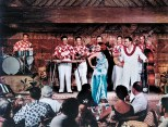 Alfred Apaka and his Hawaii Village Sernaders. Tapa room late 1950's >>> Property of The Honolulu Advertiser