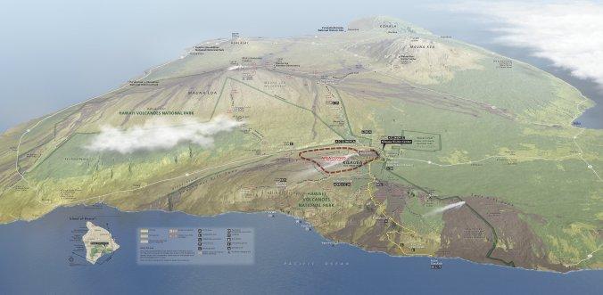 Hawaii-Volcanoes-NPS-map