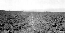 Hawaii Volcanoes National Park. Ancient Hawaiian trail of smooth stone across the 1823 Keaiwa (seaward) flow of Kilauea Volcano. July 10, 1924-USGS)-400