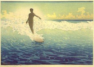 'Hawaii,_The_Surf_Rider',_woodblock_print_by_Charles_W._Bartlett,_1921