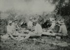 Hawaiian boys pounding kalo, photo by P.L. Lord-(BishopMuseum)-ca. 1889