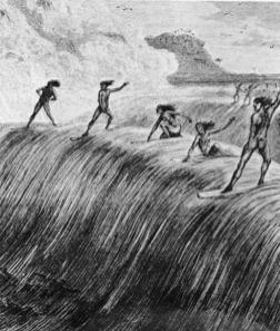 Hawaiin surfing-(culturemap-org-au)-early 1800s