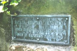 Headstone at Grave of Samuel Armstrong