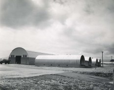 Quonset huts, Hilo Airport, 1955
