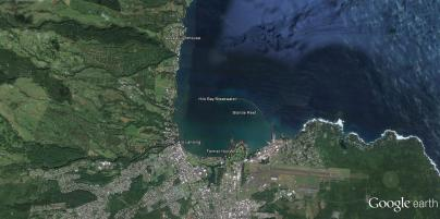 Hilo Bay-Paukaa Lighthouse-GoogleEarth