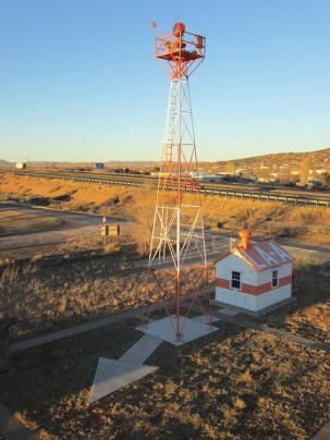 Historic Ariway Beacons-Aviation Heritage Museum of the Grants-Milan Airport in NM has restored this airway beacon