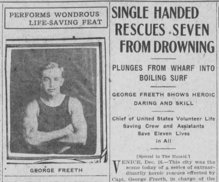 Historic Huntington - surfing - George Freeth - LA Herald Dec 17 1908