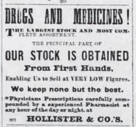Hollister & Co -Saturday Press-February 25, 1882