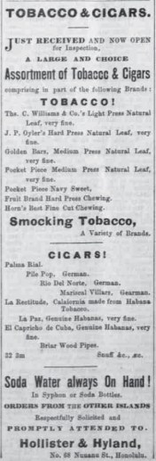 Hollister & Hyland-Hawaiian Gazette, August 25, 1869