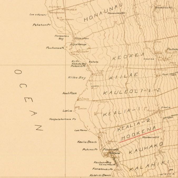 Honaunau_USGS_Quadrangle-Honaunau-1924-portion-Hookena-bottom