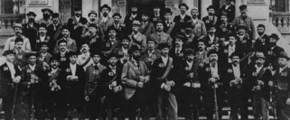 Honolulu Rifles, a volunteer group of men who supported the Committee of Safety