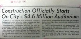 Honolulu War Memorial Construction Begins-News-1962
