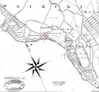 Honolulu_Harbor-Diamond_Head-Monsarrat-Reg1910 (1897)-portion_Waikiki_Church noted