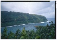 Honomanu Gulch, looking west - Hana Belt Road-LOC)-218244cv