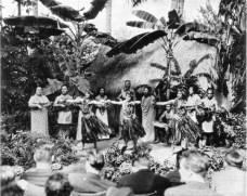 Hula Show at Lalani Hawaiian Village, Waikiki-BM-ca.1935