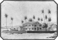 Huliheʻe_Palace,_Kona,_Hawaiʻi,_c._1859._Watercolor_by_Paul_Emmert