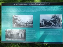 Mission Houses Interpretive Display