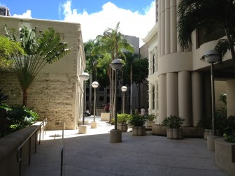 Former Kaahumanu Lane- looking mauka Melchers to left