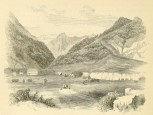 Illustration of Wailuku, Island of Maui, from Northern California, Oregon, and the Sandwich Islands by Charles Nordhoff-1870s