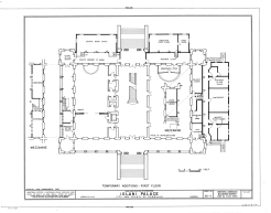 Iolani_Palace-with temporary offices added on exterior-LOC