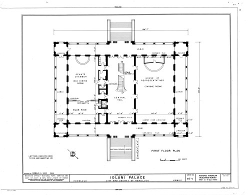 Iolani_Palace,_-temporary offices - Legislative Chambers-1st floor-LOC