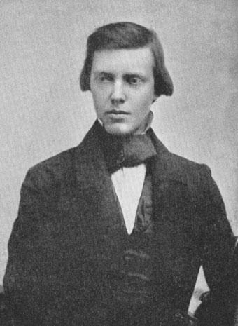 John Tomas Gulick circa 1858, age 25–26-Hall