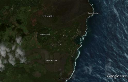 Ka Wai O Pele-Google Earth