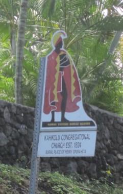Kahikolu Church-HVCB Warrior Marker