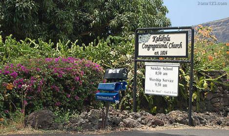 Kahikolu Church-sign