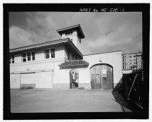 Kakaako Fire Station, Hook & Ladder Building, 620 South Street, Honolulu-LOC-218878pv