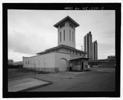 Kakaako Fire Station, Hook & Ladder Building, 620 South Street, Honolulu-Ladder-Bldg-LOC-218880pv