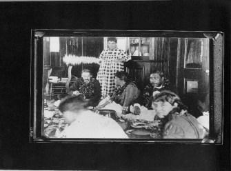 Kalakaua, King of Hawaii, 1836-1891 with Robert Louis Stevenson and his family-(HSA)-PP-96-14-009-1889