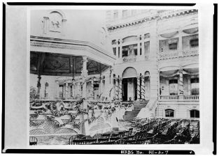 Kalakaua's_Coronation_Pavilion-linked to Palace-(LOC)