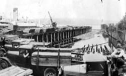 Kalama-dockWithTrucksShipLumber